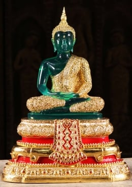 Thai Emerald Buddha Rainy Season Statue 17