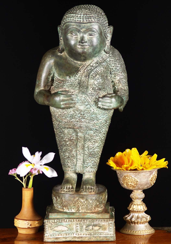 Fat Thai Songachai Buddha Hands On Belly 15 55t38z Hindu Gods Buddha Statues