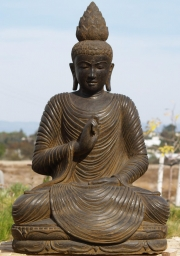 Stone Buddha with Lotus Finial 40