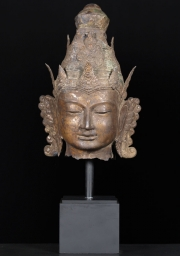Brass Vishnu Bust with Base 29