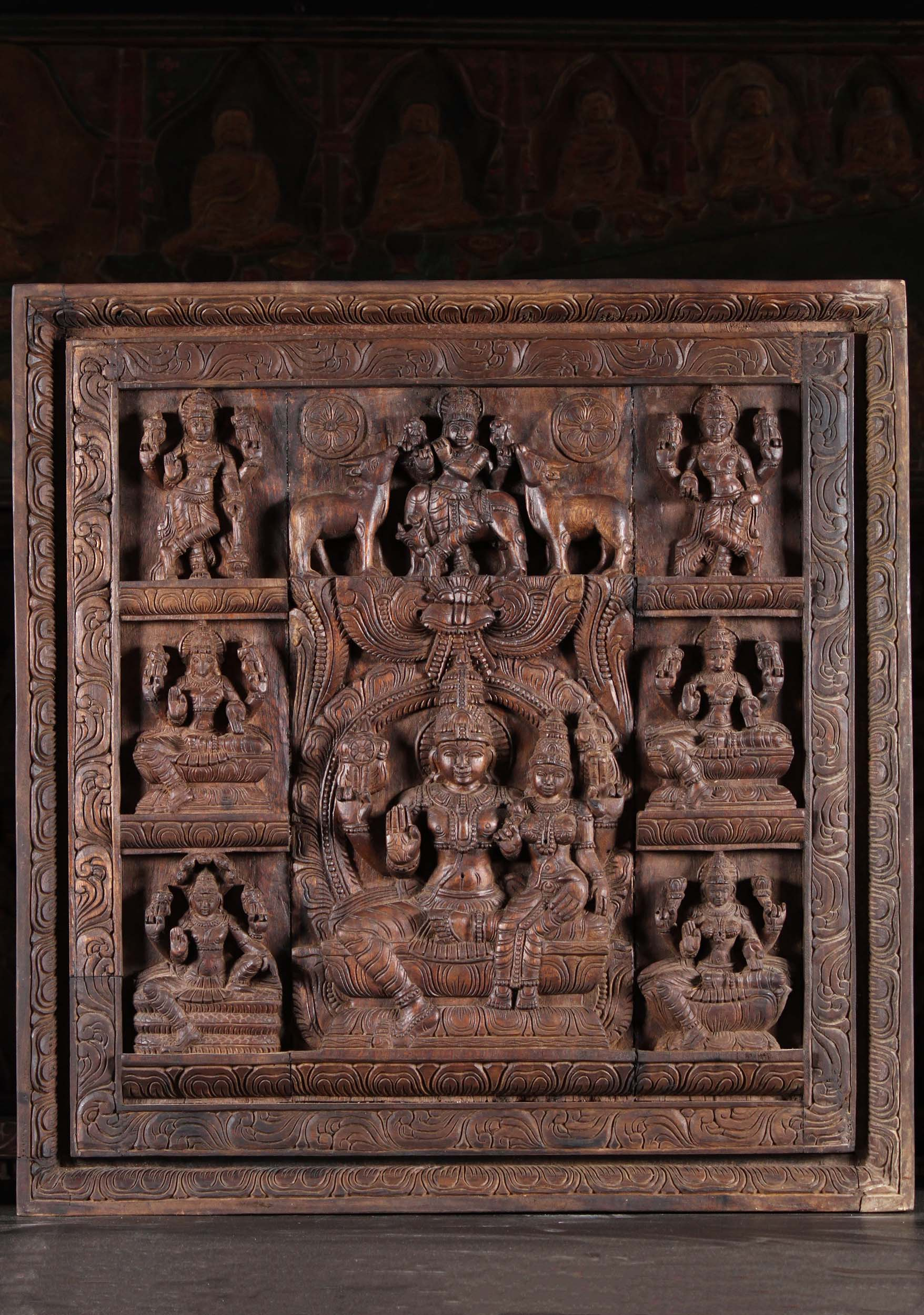 Carved Wood Wall Sculpture
