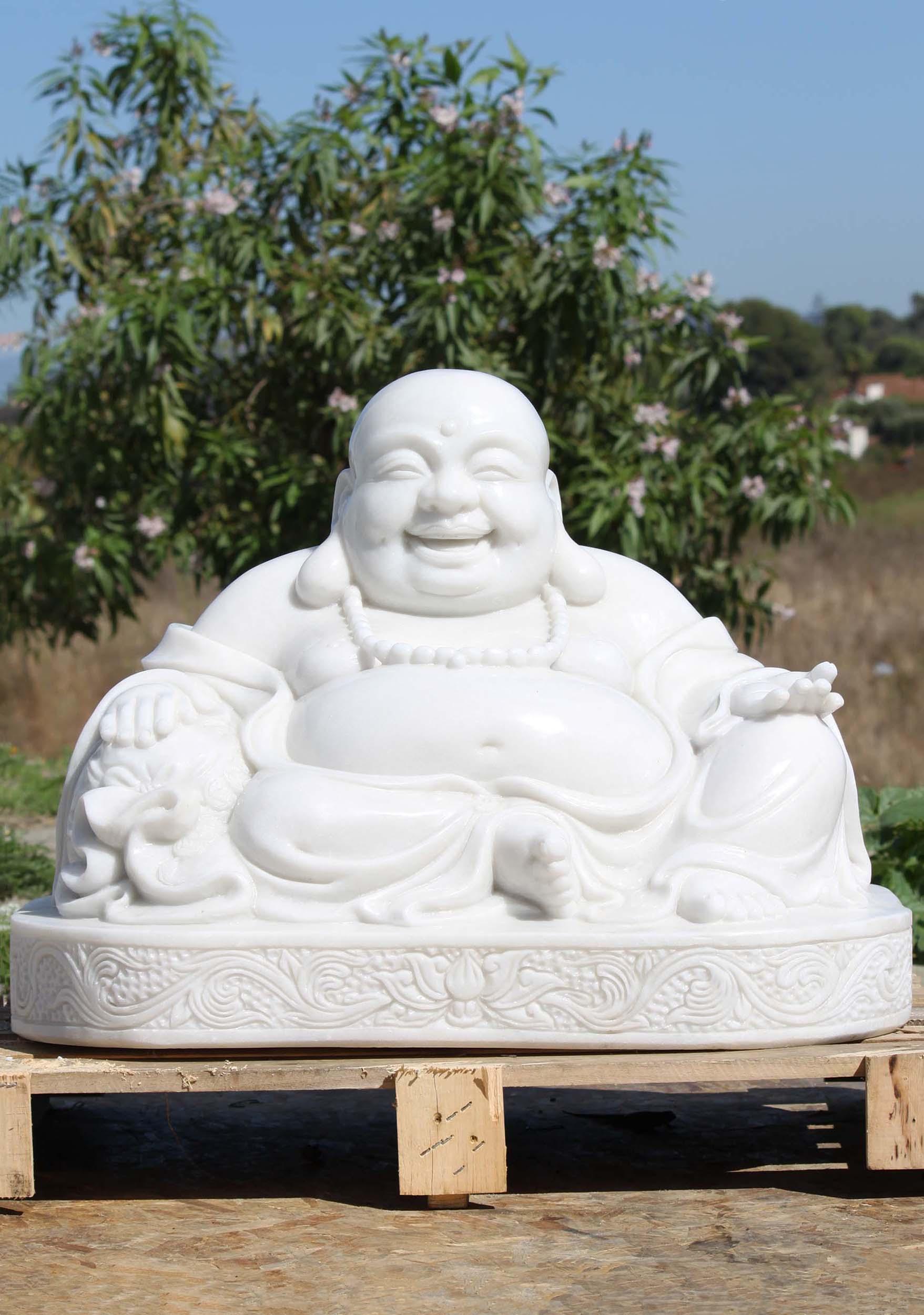 Marble Fat Buddha Of Prosperity Garden Statue 20 117wm100 Hindu Gods Buddha Statues