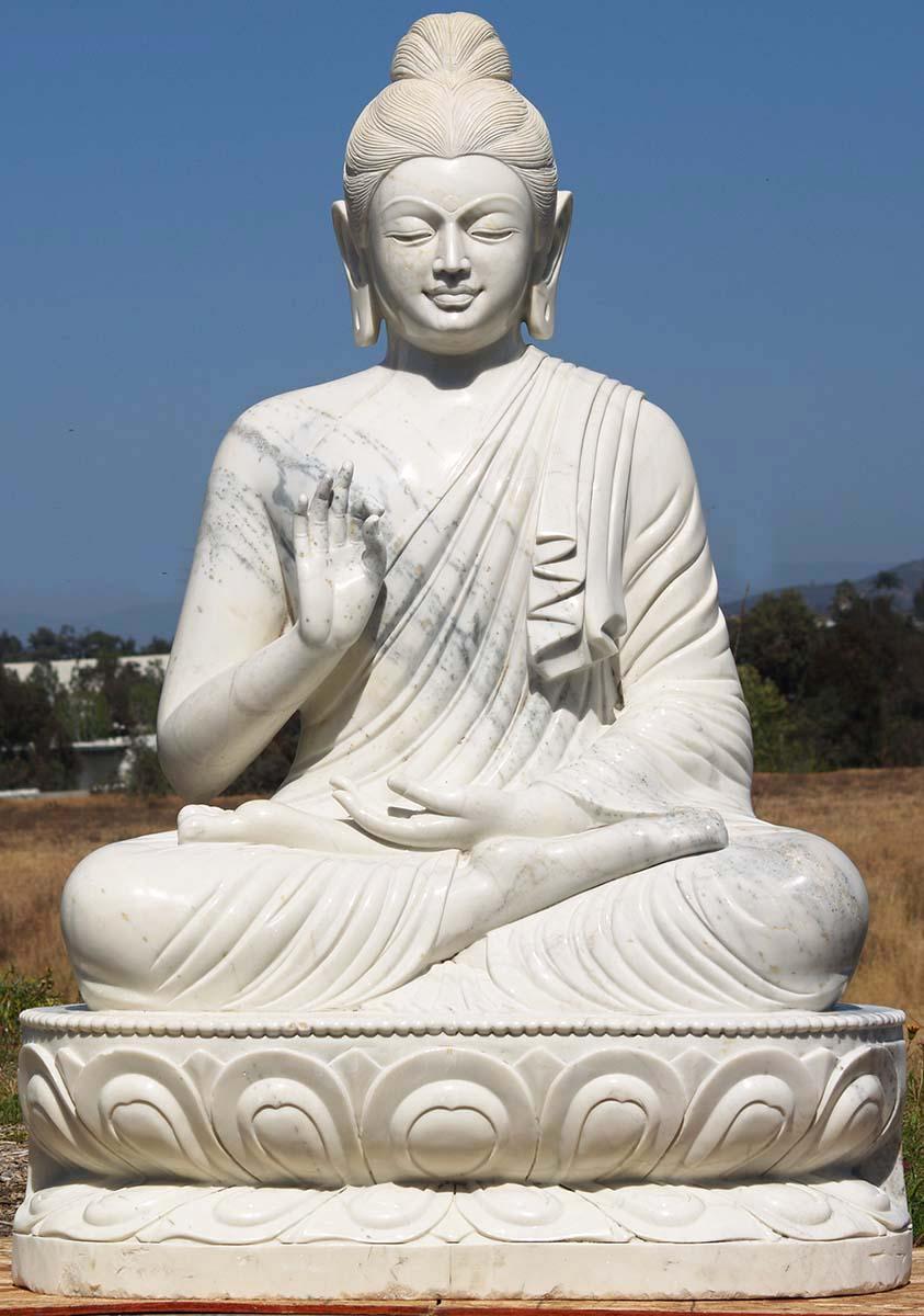 Custom White Marble Gandhara Buddha 72 Quot 71wm1 Hindu