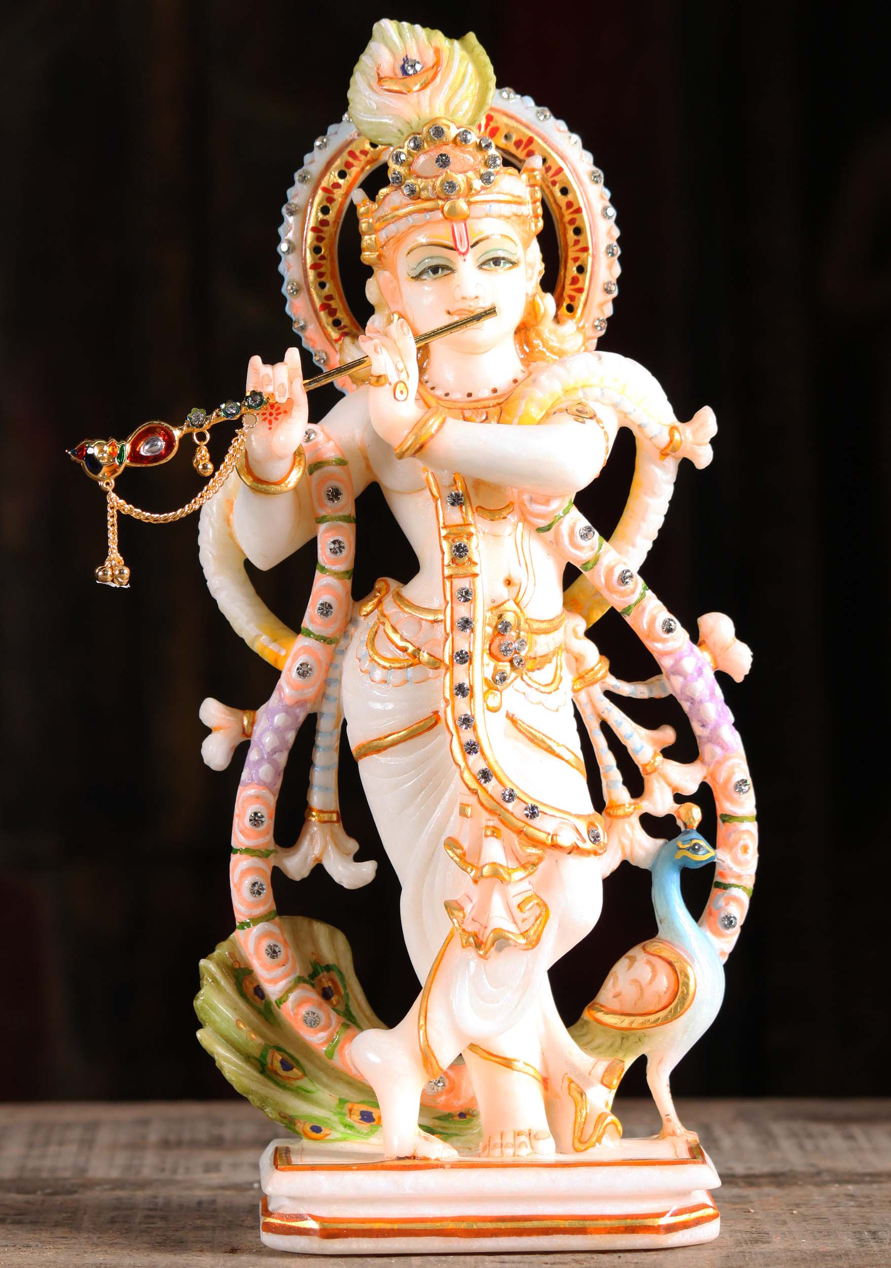 Sold White Marble Gopal Krishna Statue 12 Quot 90wm3 Hindu