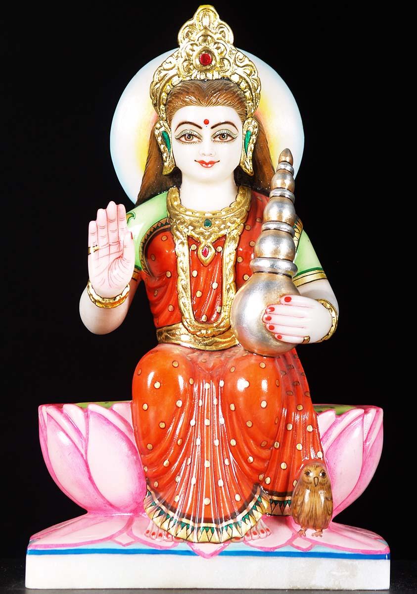 Sold White Marble Lakshmi Statue 13 Quot 71wm44 Hindu Gods