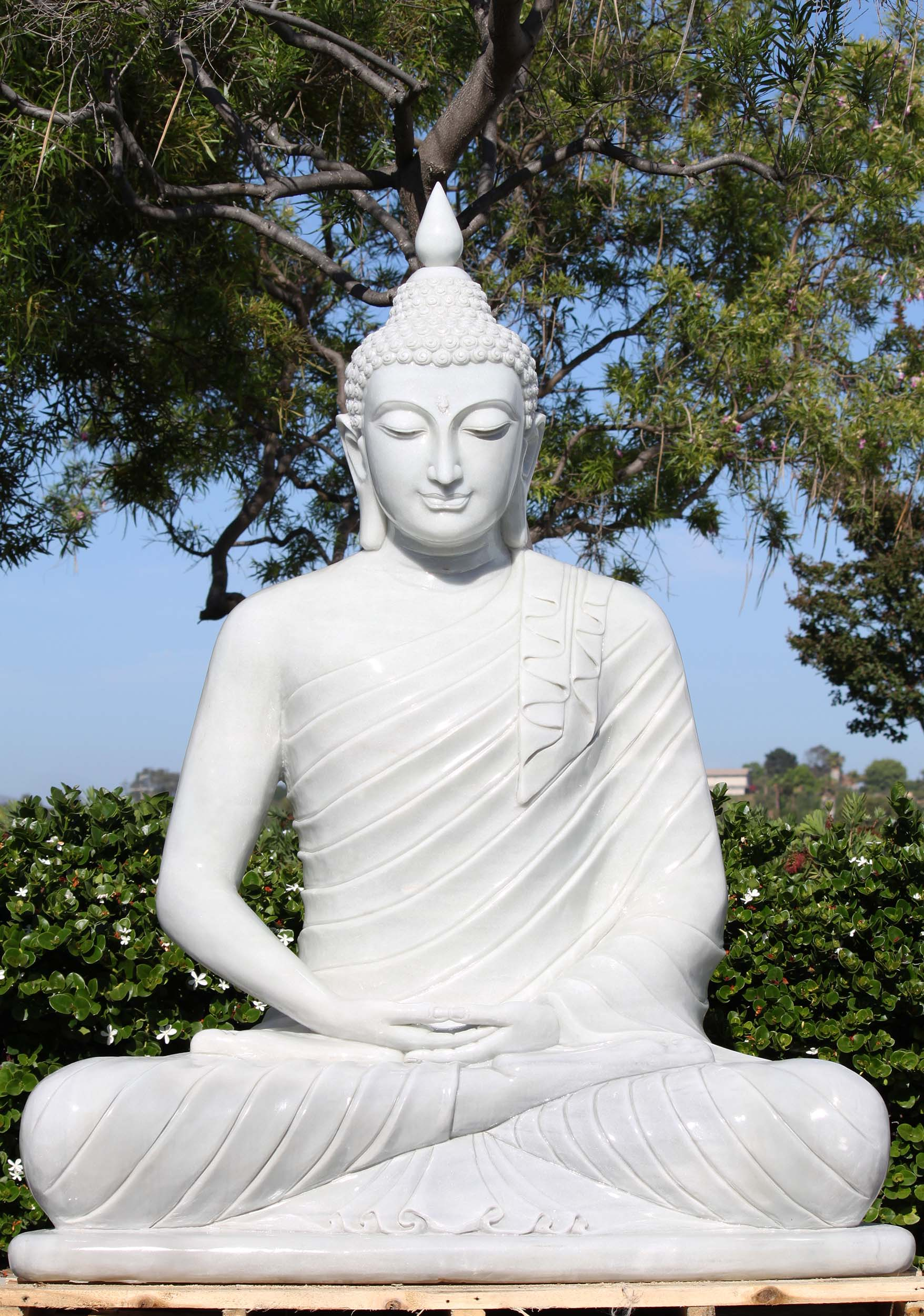 Large Marble Meditating Buddha Statue 68 Quot 109wm12