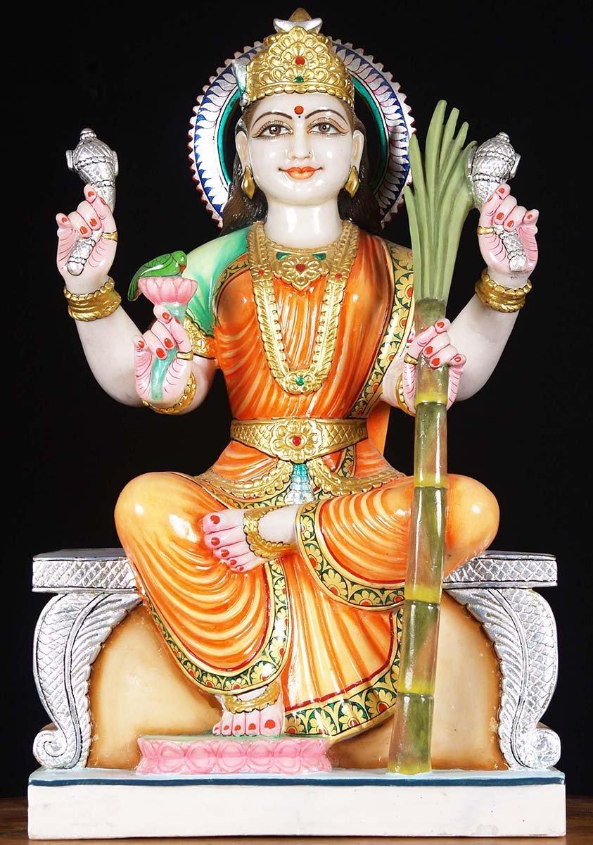 Sold White Marble Raja Rajeshwari Statue 23 Quot 80wm23