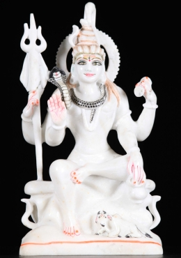 White Marble Shiva Sculpture 15