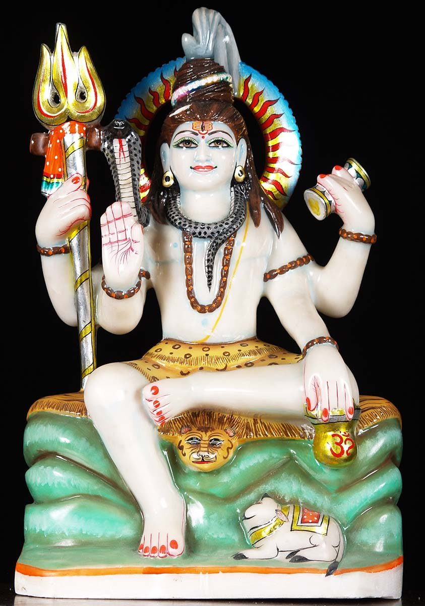 White Marble Shiva Sculpture 23 Quot 71wm41 Hindu Gods