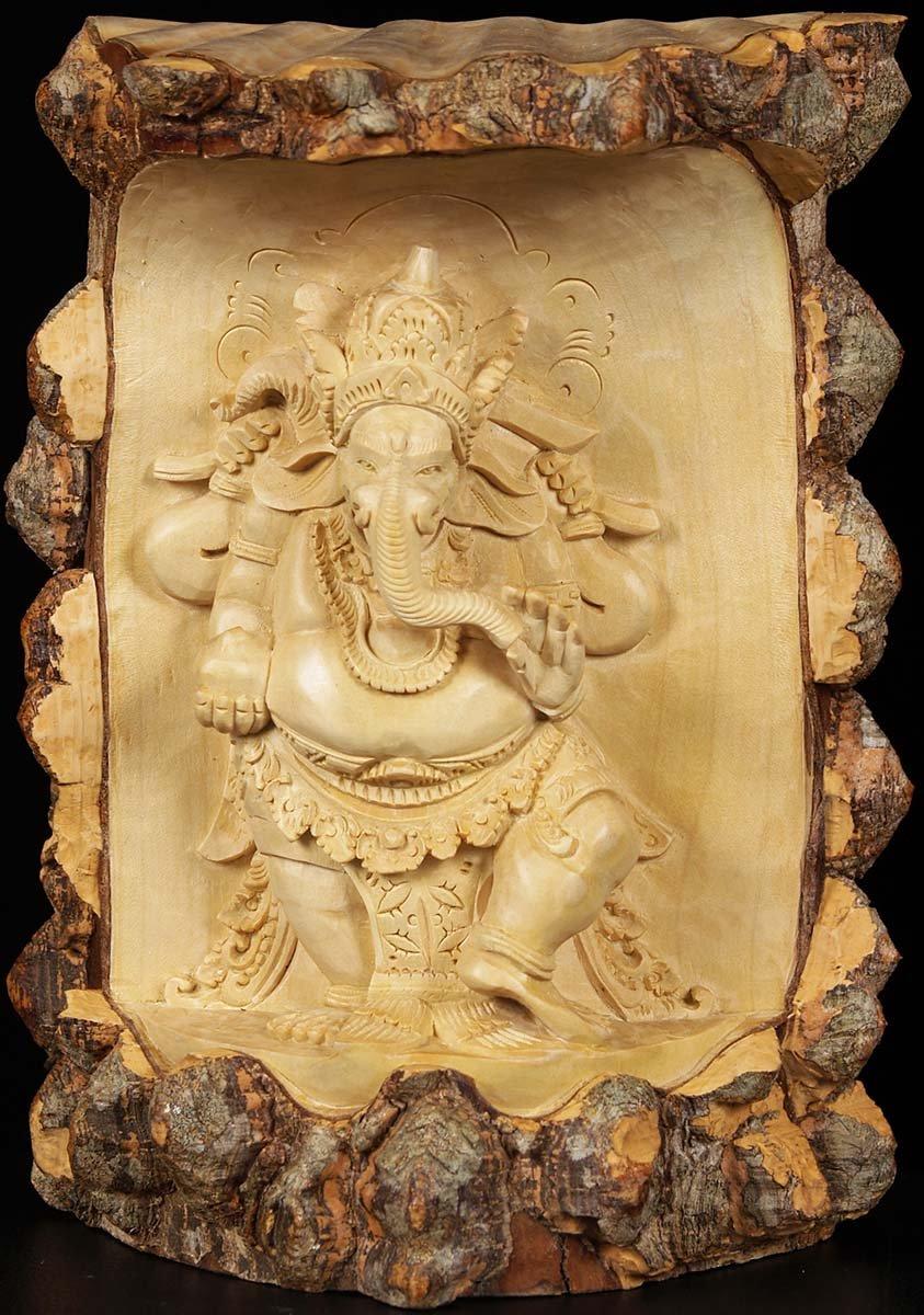 Natural tree ganesh carving quot w zz hindu gods