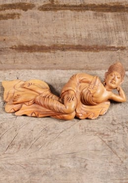 Wood Reclining Sleeping Buddha Statue 14