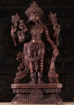 Vishnu Holding Conch, Club, Discus & Flower 30