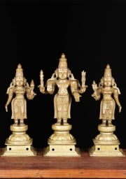 Bronze Antique Murugan  Consorts 23