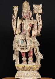 Antique Wood Shiva Statue 36
