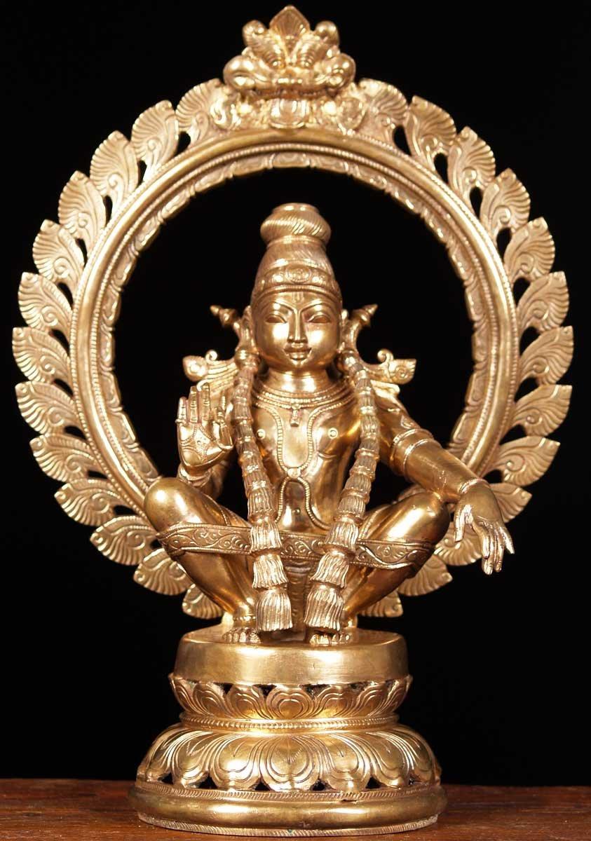 Sold Bronze Ayyappan Statue 15 5 Quot 64b17 Hindu Gods