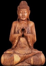 Big Wooden Buddha Statue 80