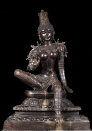 RESERVED Large Brass Parvati as Bogashakti 60
