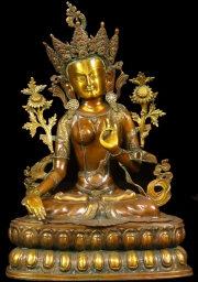 Brass Green Tara Statue 35