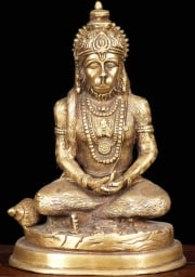 Brass Golden Hanumanji Statue 7