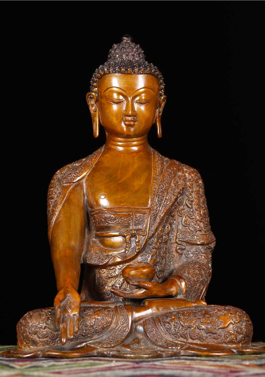 "What Is Freight Shipping >> SOLD Brass Vitarka Mudra Buddha Statue 14"" (#61bs20b ..."