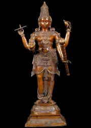 Brass Vishnu with Discus  Club 42