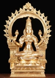 Bronze Golden Lakshmi with Arch 20