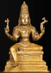 Bronze Seated Shiva Statue 14