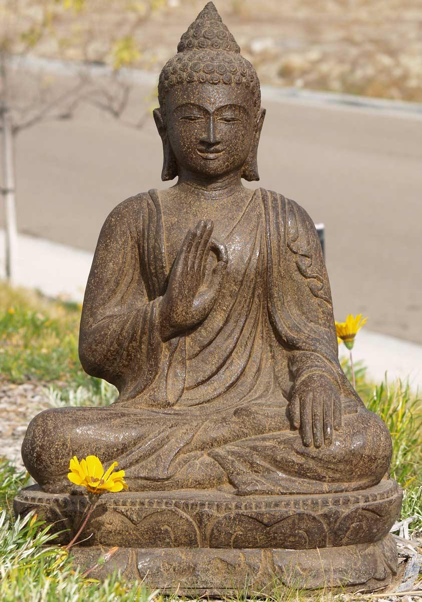 Sold Stone Vitarka Teaching Buddha 30 U0026quot    77ls46   Hindu Gods  U0026 Buddha Statues