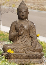 RESERVED Stone Vitarka Teaching Buddha 30