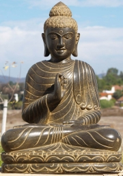 Stone Teaching Buddha Statue 36