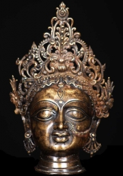 Bronze Durga Head with Crown 10