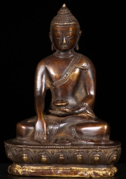 Brass Earth Touching Buddha 55