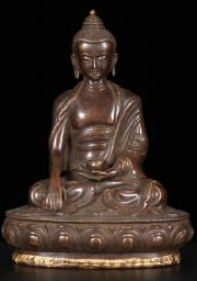 Brass Earth Touching Buddha 85