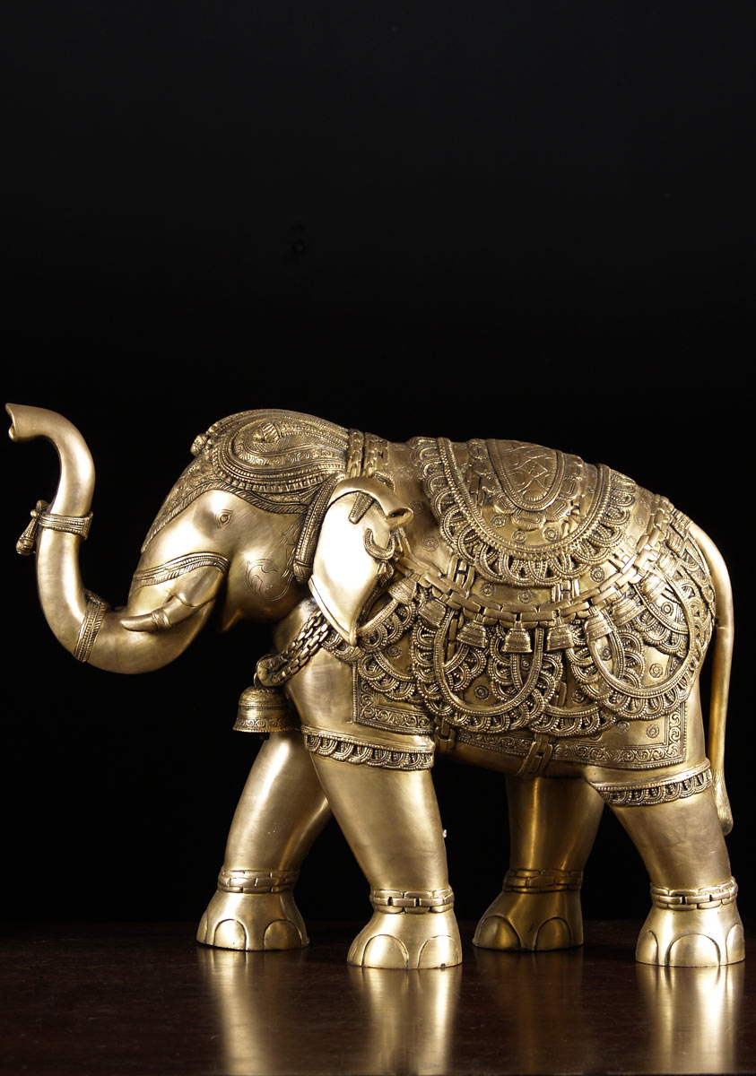 trunk raised elephant statue 21 72bs83z hindu gods. Black Bedroom Furniture Sets. Home Design Ideas