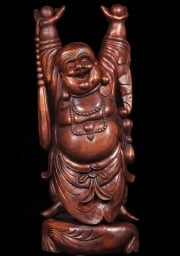 Wood Fat  Happy Buddha Statue 71
