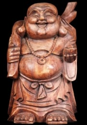 Fat Buddha with Gold Bag on a Stick 16