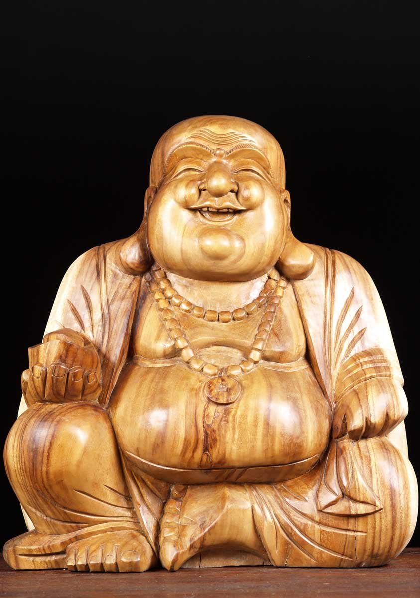 "SOLD Fat & Happy Buddha of Wealth 21"" (#2bw2): Hindu Gods ..."