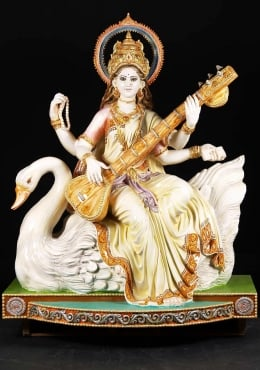 Saraswati Statues Hindu Goddess Saraswati Sculpture