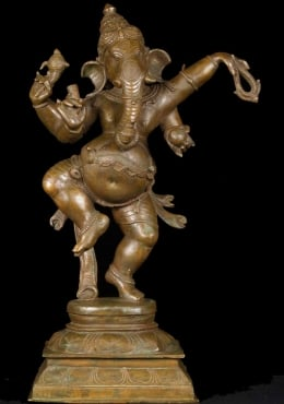 Bronze Beautiful Dancing Ganesh Statue 25