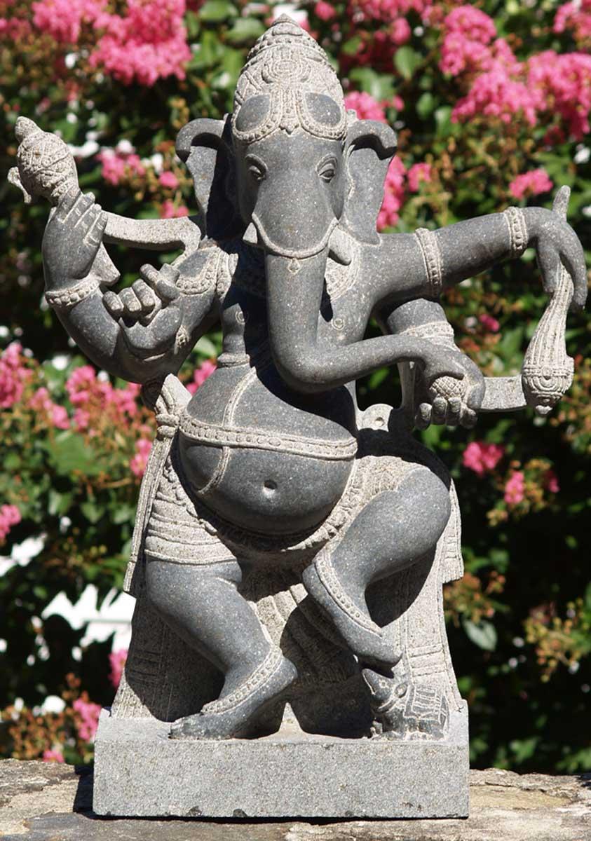 stone ganesh statue with rat 30 38g5 hindu gods amp buddha statues