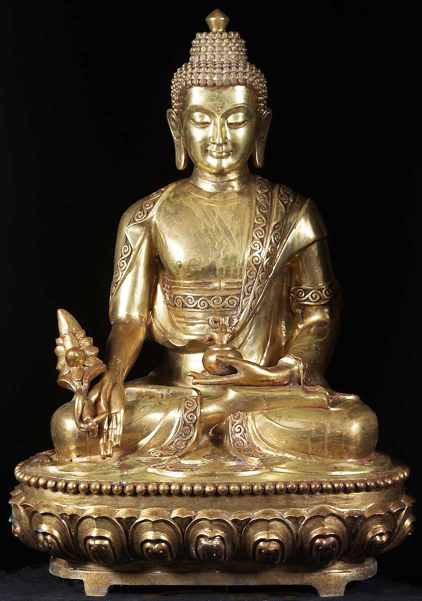 Sold Golden Medicine Buddha Statue 40 Quot 20t5 Hindu Gods