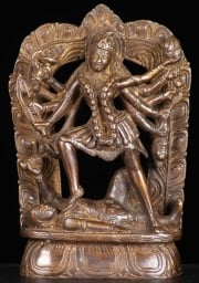 Brass Kali on Shivas Dead Body 7
