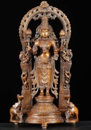 Lakshmi Statue with 2 Elephants 17