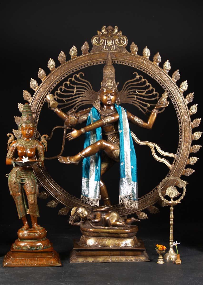 Brass Large Dancing Shiva Nataraja 73 Quot 61bs67 Hindu