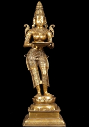 Brass Polished Deepa Lakshmi Statue 51