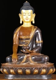 STATUE OF THE DAY Copper Shakyamuni Buddha 13