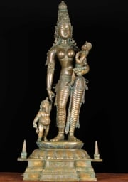 RESERVED Parvati with Baby Ganesh  Murugan 36