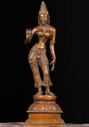 Brass Parvati as Shivakami Statue 12