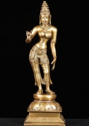 Brass Parvati as Shivakami 12