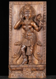 Wood Mirror Devi Sculpture 24